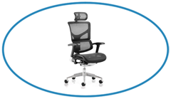 Office Chair with Mesh texture