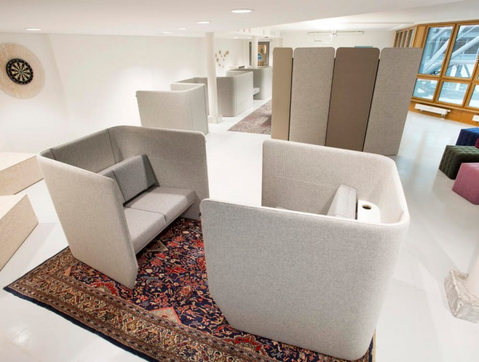 Buziville-Modular-Freestanding-Acoustic-Configurations-Grey-Communal-Space-Hub-Acoustic-Panels-Pouffes