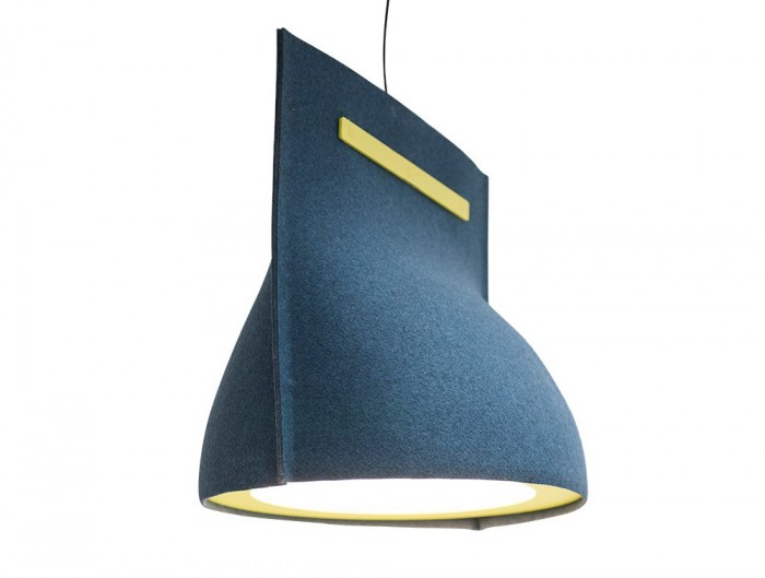 BuzziBell-Acoustic-Pendant-Ceiling-Light-Blue-and-Fluo-Yellow