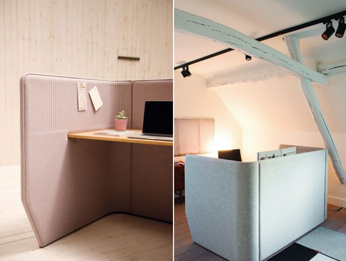 BuzziBooth-Targa-Acoustic-Open-WorkStation-Pod-Pink-and-Grey-Home-Office