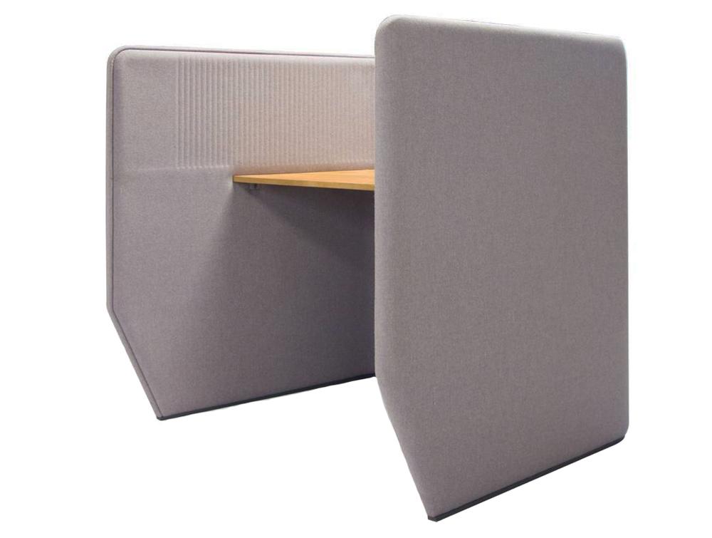 BuzziBooth-Targa-Acoustic-Open-Workstation-Pod-Grey-Side