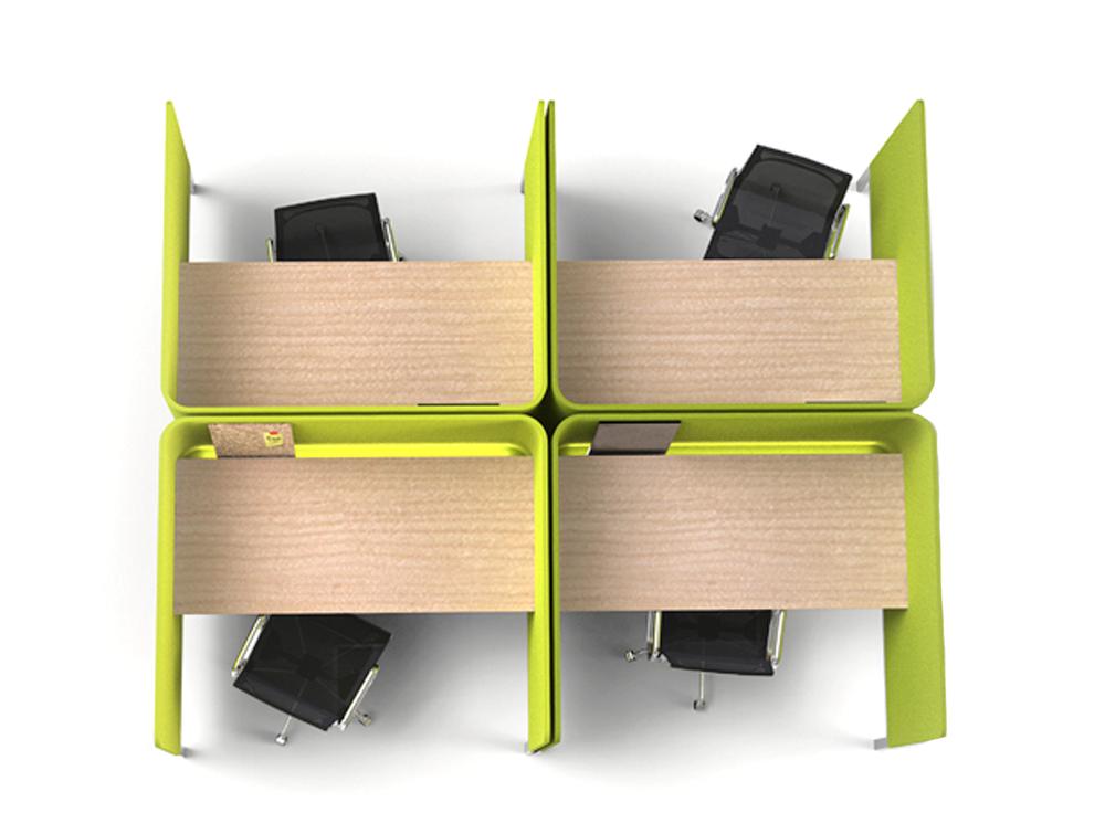 BuzziBooth-Targa-Acoustic-Open-Workstation-Pod-Office-Organisation-Green