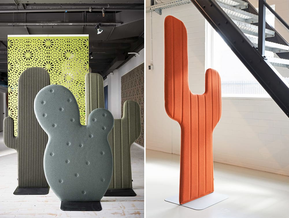 BuzziCactus Freestanding Acoustic Screen Reception Area