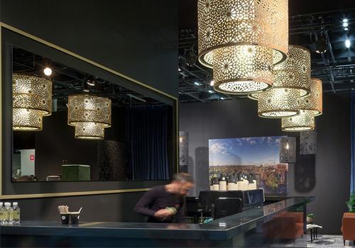BuzziChandelier-Traditional-Style-Acoustic-Pendant-Ceiling-Light-Gap-Felt-Bar-Restaurant