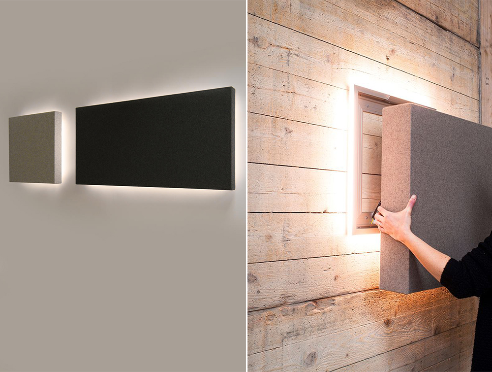BuzziClipse-Acoustic-Panel-Plus-Back-Light-Black-Grey-Beige-Wall-Mounted