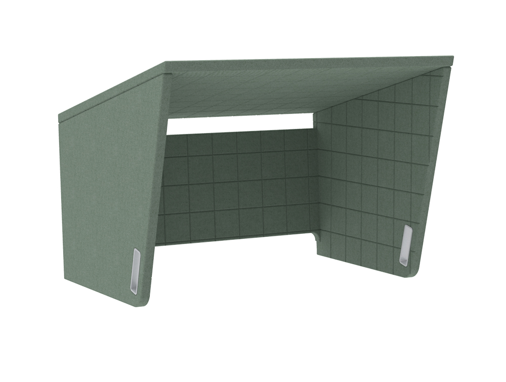 BuzziCockpit-Double-Over-the-Workstation-Portable-Acoustic-Cover-Green