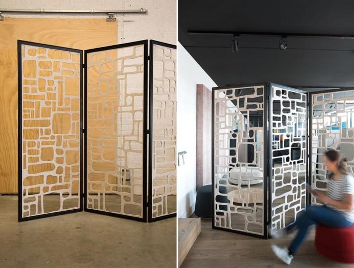 BuzziFalls Custom Designed Freestanding Acoustic Room Dividers Breakout Area