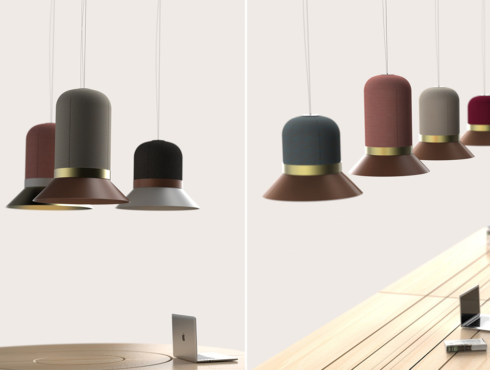 BuzziHat-Acoustic-Pendant-Ceiling-Colours-Beech-Table
