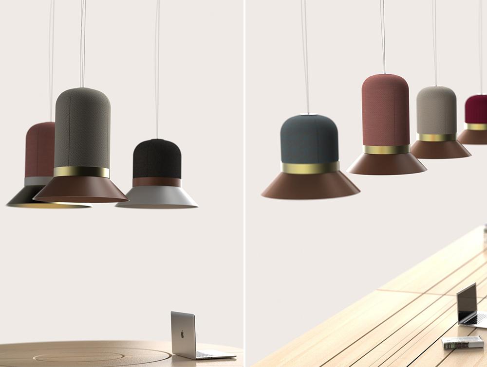 BuzziHat-Acoustic-Pendant-Ceiling-Colours-Beech-Table