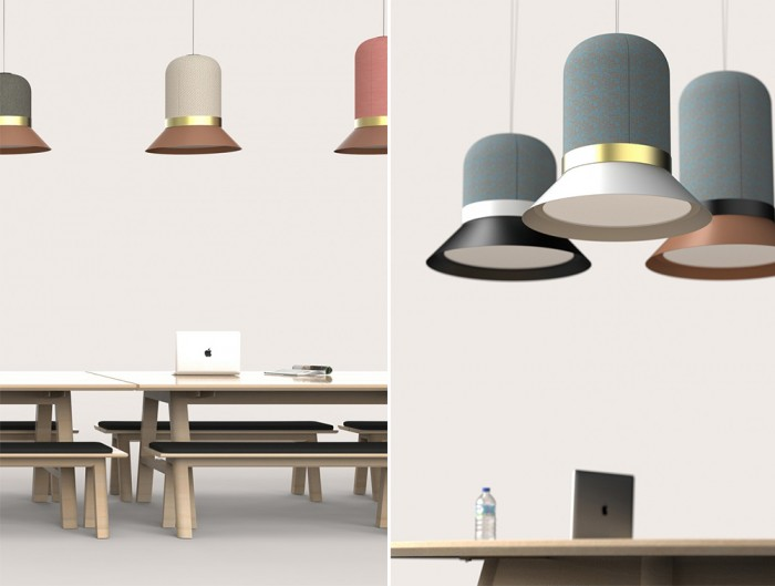 BuzziHat-Acoustic-Pendant-Ceiling-Light-Modern-Stylish-Different-Size