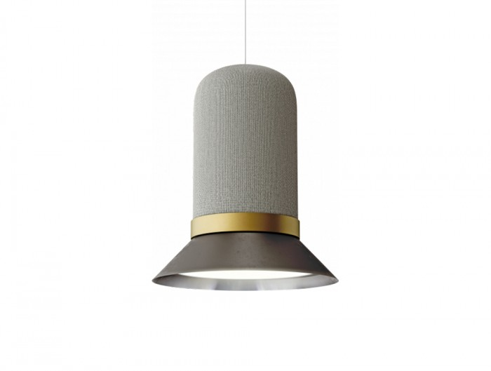 BuzziHat-Extra-Large-Acoustic-Pendant-Ceiling-Light-Shades-of-Grey-and-Gold-Ring