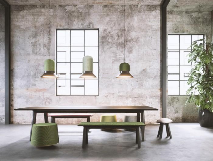 BuzziHat-Medium-Extra-Large-Acoustic-Pendant-Ceiling-Light-Shades-of-Green