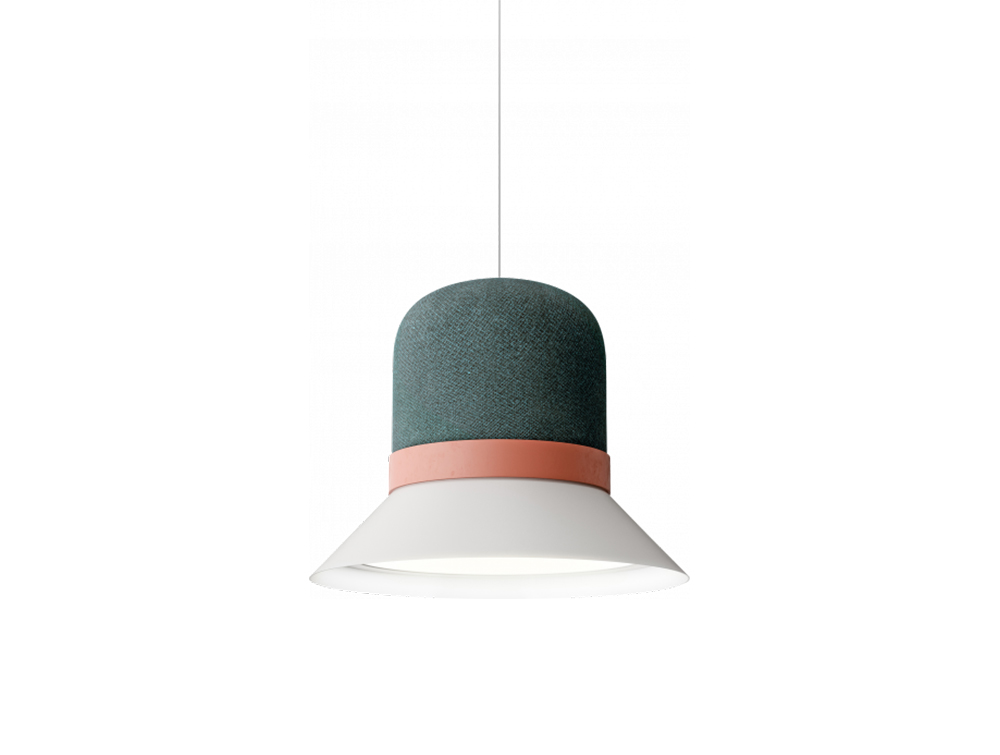 BuzziHat-Medium-Pendant-Ceiling-Pendant-Grey-Pink-and-Green