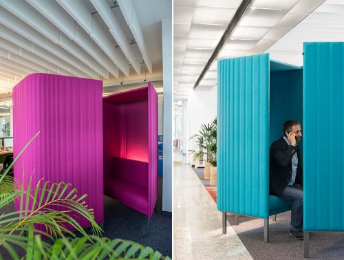 BuzziHive-Acoustic-Meeting-Pods-Fuchsia-and-Blue-Lights-Phone-Call