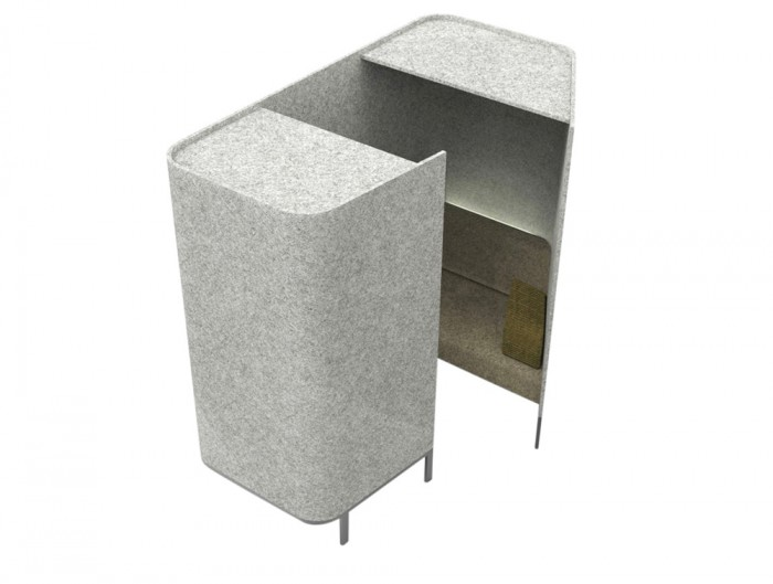 BuzziHive-Acoustic-Meeting-Pods-Grey-with-Cushion-Armrest-and-Lights