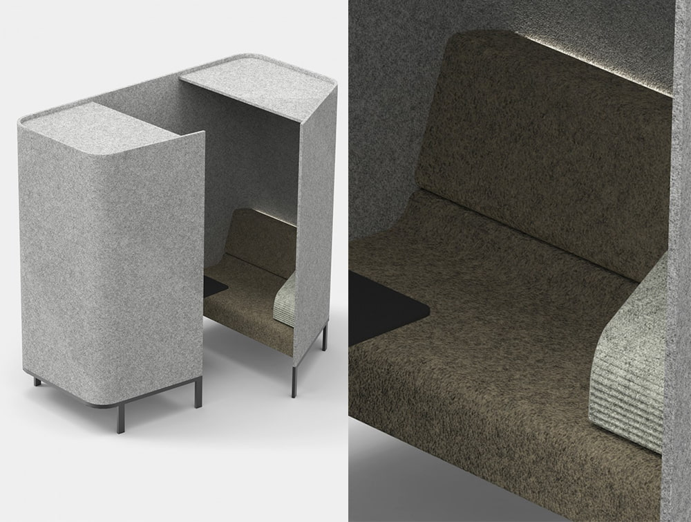 BuzziHive-Three-Person-Meeting-Room-Acoustic-with-Lights-Cushion-and-Table-Grey-and-Brown