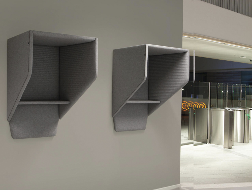 BuzziHood-Wall-mounted-Acoustic-Phone-Booth-Grey-Office-Lobby