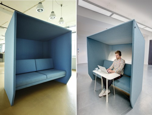 BuzziHub-Acoustic-Private-Seating-Pod-Blue-Working-Concentration