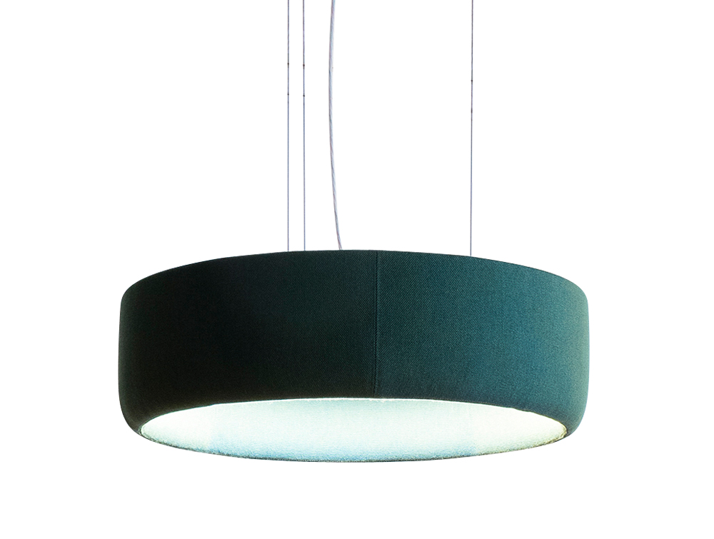 BuzziJet-Acoustic-Circular-Pendant-Ceiling-Light-Small-Green