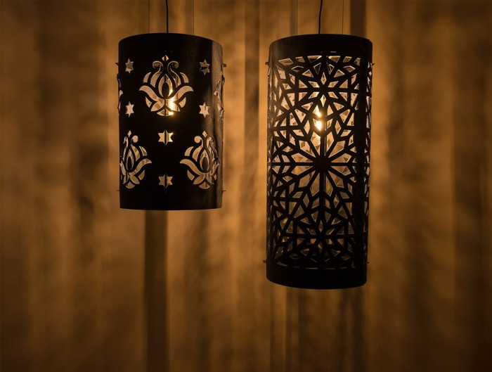BuzziLight-Alhambra-and-Royal-Decorative-Acoustic-Ceiling-Light-Night