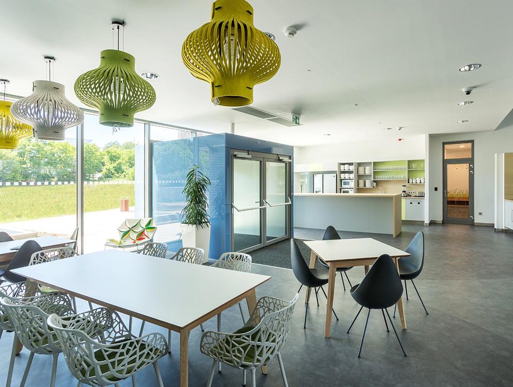 BuzziLight-Mono-Decorative-Acoustic-Ceiling-Light-Green-Office-Kitchen