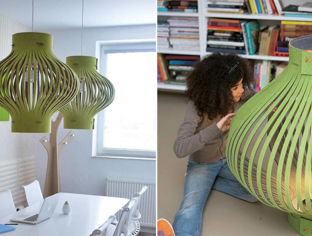 BuzziLight-Mono-Decorative-Acoustic-Ceiling-Light-Green-Office-School