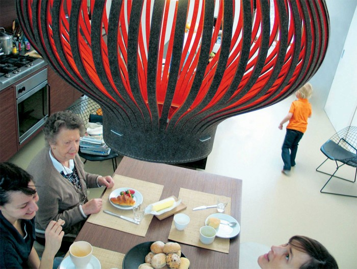 BuzziLight-Mono-Decorative-Acoustic-Ceiling-Light-Kitchen-Breakfast-Grey-and-Red