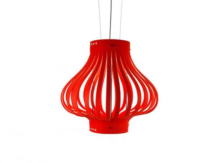 BuzziLight-Mono-Decorative-Acoustic-Ceiling-Light-Red