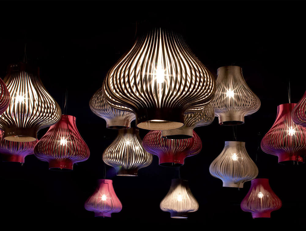 BuzziLight-Mono-Decorative-Acoustic-Ceiling-Light-Red-Brown-Grey