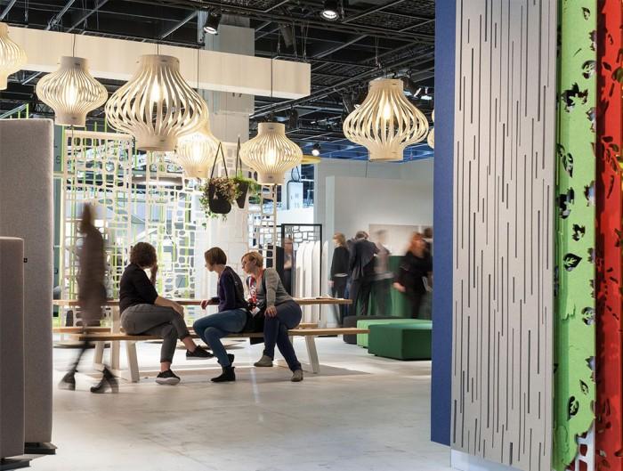 BuzziLight-Mono-Decorative-Acoustic-Ceiling-Light-White-Communal-Space