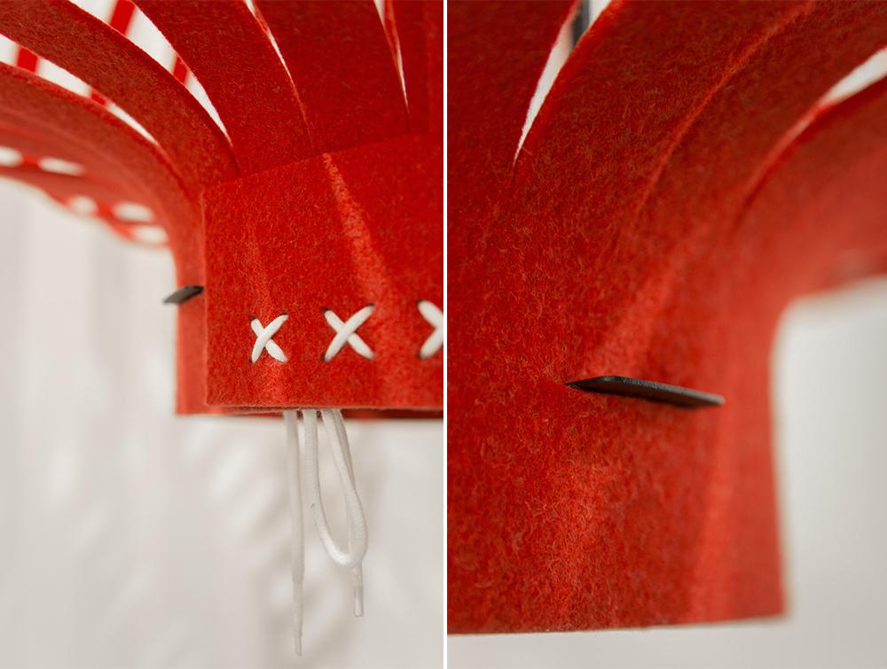 BuzziLight-Mono-Red-Decorative-Acoustic-Ceiling-Light-Lace