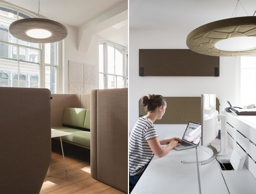 BuzziMoon-Ring-Shaped-Acoustic-Ceiling-Light-Beige-with-BuzziVille-Club-Office