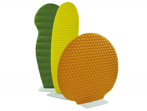 BuzziPlant Freestanding Acoustic Ribbed Room Divider Screen