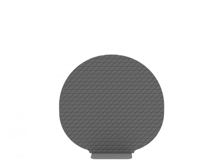 BuzziPlant Mobi Freestanding Acoustic Ribbed Panel in Grey
