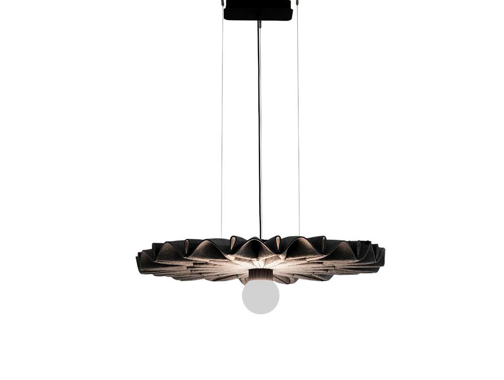 BuzziPleat-Edel-Acoustic-Pendant-Ceiling-Light-Brown