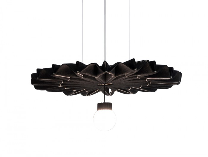 BuzziPleat-Edel-Acoustic-Pendant-Ceiling-Light-Dark-Brown