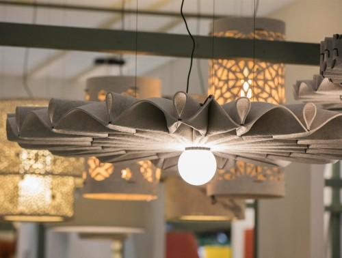 BuzziPleat-Edel-Beige-Acoustic-Pendant-Ceiling-Light-with-BuzziChandelier-BuzziLight-Alhambra-and-Royal