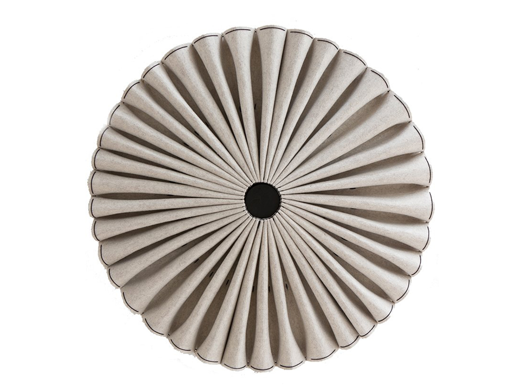 BuzziPleat-Ripple-Acoustic-Pendant-Ceiling-Light-Beige