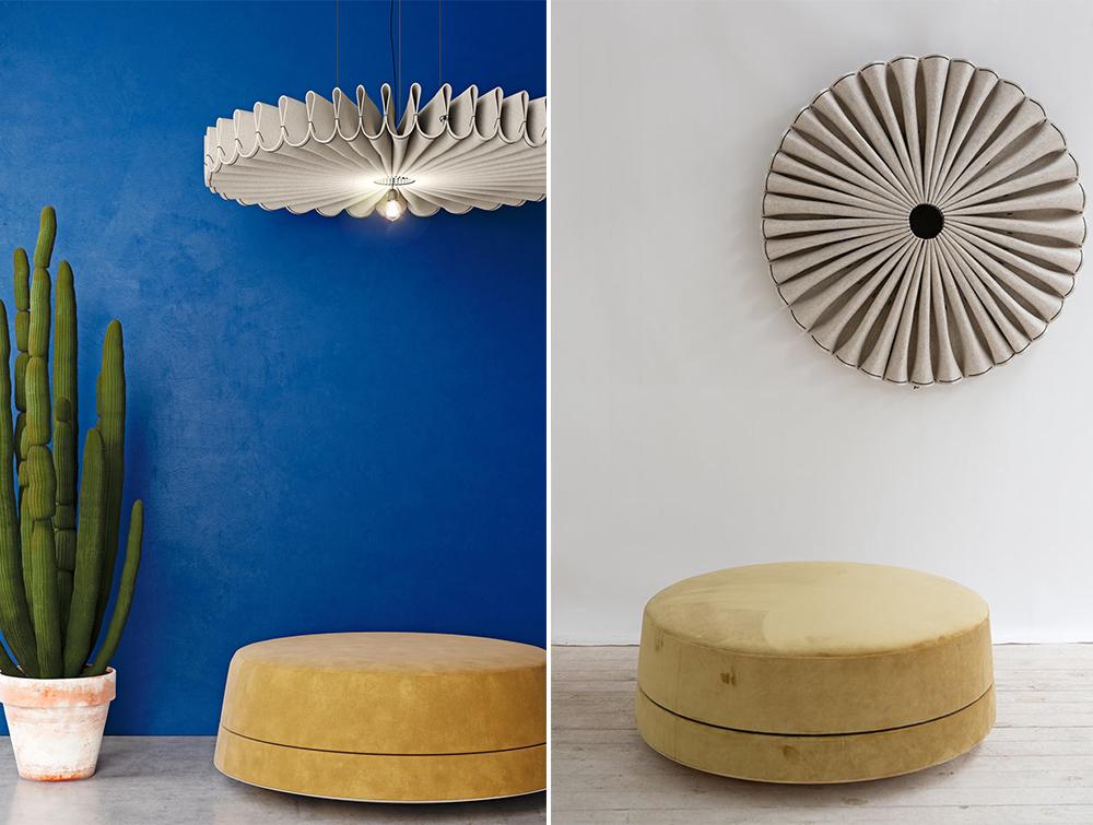 BuzziPleat-Ripple-Beige-Acoustic-Pendant-Ceiling-Light