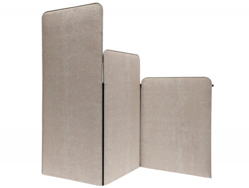 BuzziScreen Modular Freestanding Acoustic Room Dividers in Beige Small Medium Large Size