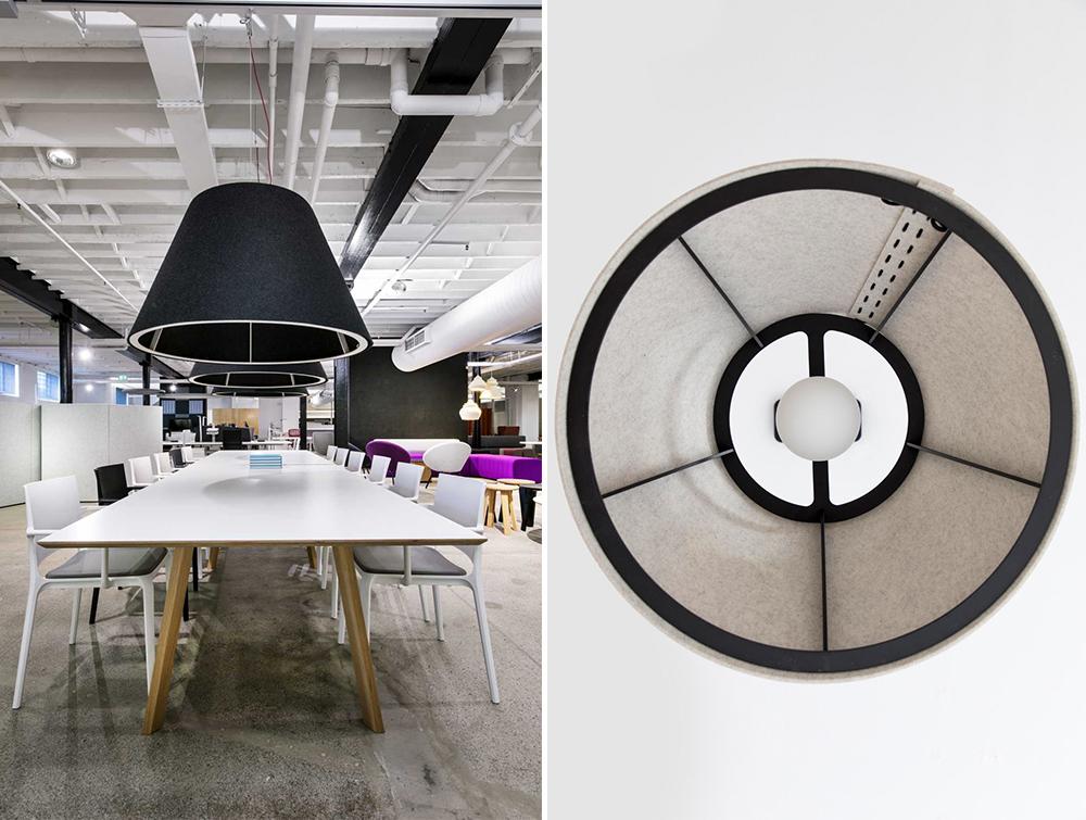BuzziShade-Acoustic-Pendant-Ceiling-Light-Open-Office-Black-Metal-Frame-Black