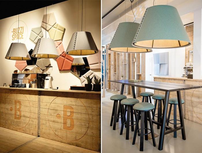 BuzziShade-Acoustic-Pendant-Ceiling-Lightc-Bar-Kitchen-Communal-Space-Grey-Green