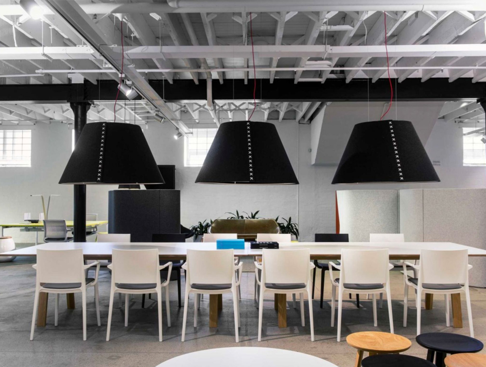 BuzziShade-Acoutic-Pendant-Ceiling-Light-Black-Open-Space