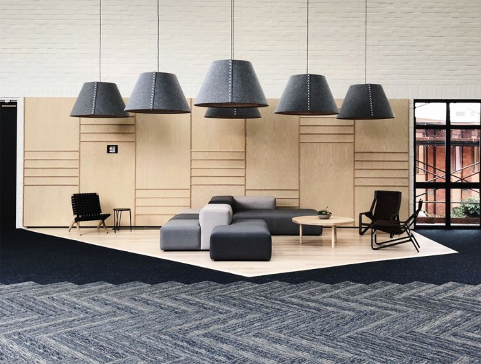 BuzziShade-Anthracite-Acoustic-Pendant-Ceiling-Light-Lobby-Space