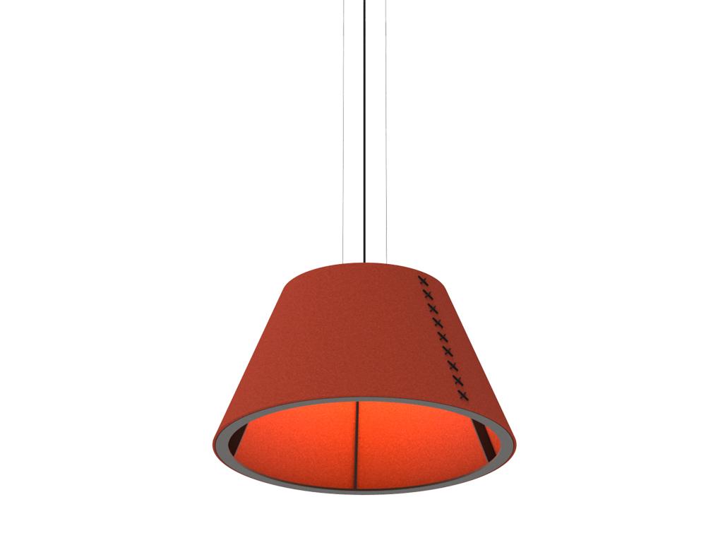 BuzziShade-Medium-Acoustic-Pendant-Ceiling-Light-Red-and-Black