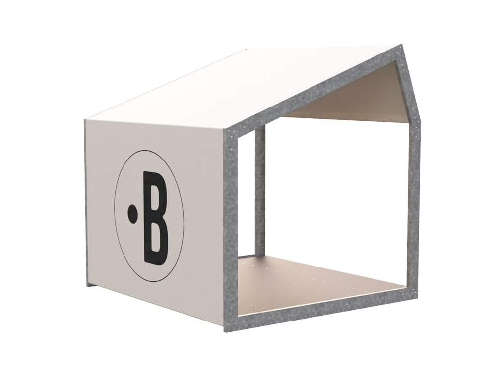 BuzziShed-Half-Open-Right-Outdoor-Shelter-for-Canteen-en-Meeting-White-Pierre-with-Antiskid-Plywood-Floor