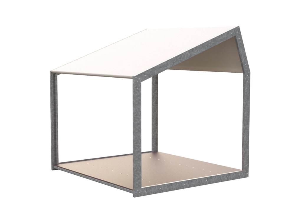 BuzziShed-Open-Outdoor-Shelter-for-Canteen-en-Meeting-White-Pierre-with-Antiskid-Plywood-Floor