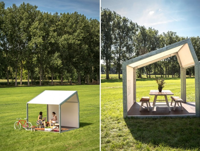BuzziShed-Outdoor-Shelter-for-Canteen-Meeting-Point-Relaxation-with-Table