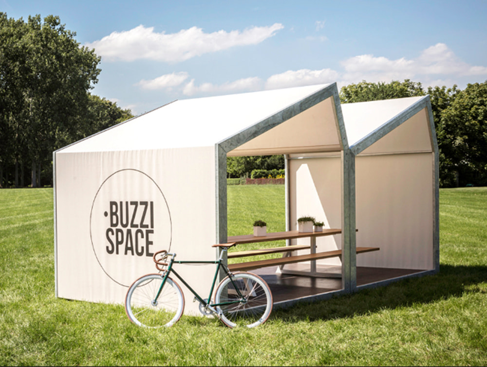 BuzziShed-Outdoor-Shelter-for-Canteen-and-Meeting-with-Table-Under