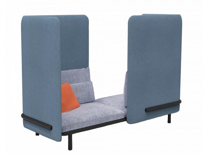 BuzziSpace-Acoustic-2-Seat-Relaxation-Pod-Blue-with-Orange-Cushion